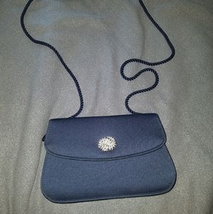 3/25 Bloomingdale's blue shoulder bag or clutch